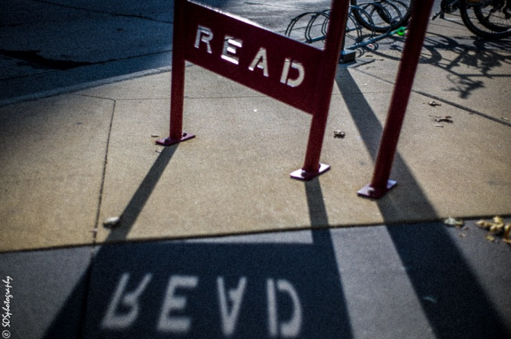 So what do you read? Photo Credit Alex Judkins. Scene on the Street (SOS) Photography.  Thanks Alex!
