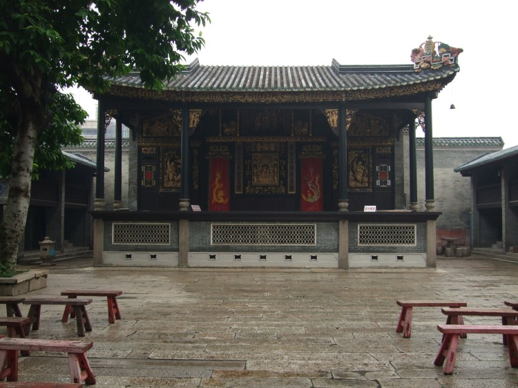 The home of Wing Chun as we like to imagine it.  The Cantonese Opera stage on the grounds of Foshan's Ancestral Temple.