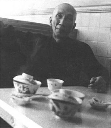 A rare shot of Ip Man enjoying a cup of Kung Fu Tea.  Few individuals in the west know that the venerable master was a big fan of cafe culture and often spent hours with his students in local restaurants after class.