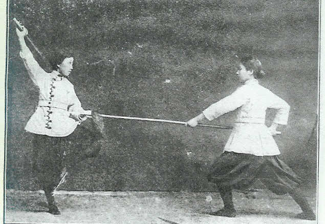 A photo of female martial artists from the Jingwu Anniversary Book. The woman on the left is Chen Shichao, one of the most vocal campaigners for the equality of female martial artists within Jingwu. She toured China and south east Asia promoting female involvement in the martial arts.