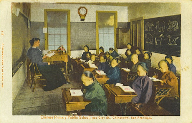Chinese American students in San Francisco.