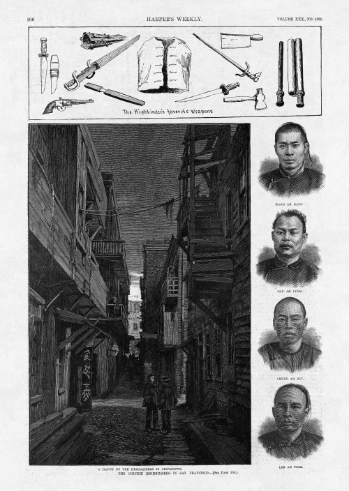 Chinese Highbinders and Weapons in San Francisco. Harper's Weekly, Feb. 13th, 1886. .