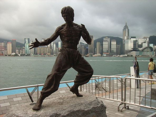 Bruce Lee statue in Hong Kong.  Source: Wikimedia.