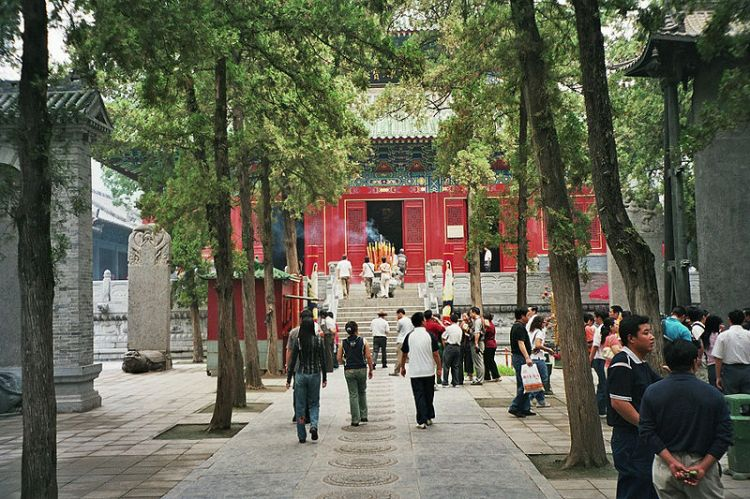 Tourists at the Shaolin Temple.  Henan, 2012.