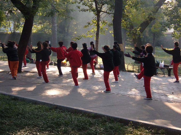 Sunday morning Taiji practice at the Temple of Heaven in Beijing.