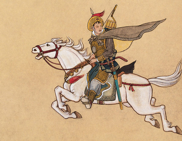 A painting of Hua Mulan.