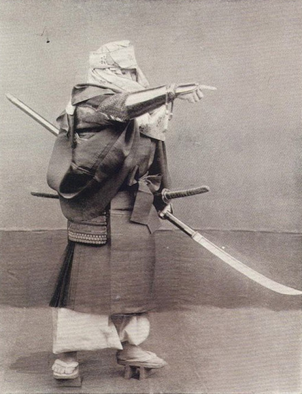 "An iconic image of a Japanese ""Warrior Monk."" Notice the nagamaki he holds in his left hand, the trademark weapon of the Sohei in much the same way that the long pole became the signature weapon of the Shaolin order."