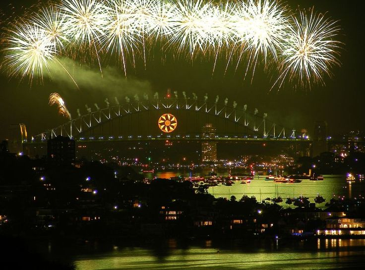 New Year in Sydney, 2009.  Source: Wikimedia.