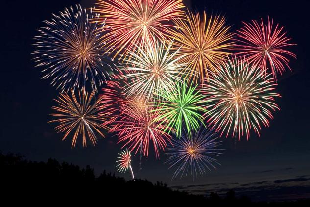 New Years fireworks display at Panama City Beach.  Source: Visit Panama City Beach.