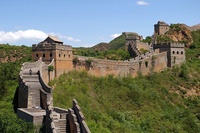 Great Wall of China near Jinshanling.  Source: Wikimedia.