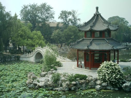 Historic Lotus Ponds in old Baoding.  Source: Wikimedia.