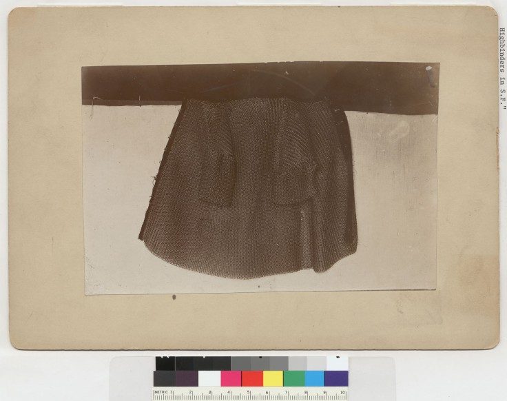 Chinese coat of mail used by Chinese highbinders in San Fransisco. Contributing Institution: UC Berkeley, Bancroft Library. The possibility of meeting a foe wearing armor (also noted in the Harper's Weekly article) would certainly explain the popularity of strong stabbing points on some 19th century Hudiedao.