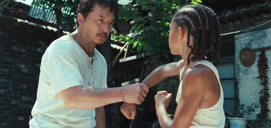 """Jackie chan in the """"Karate Kid,"""" 2010."""