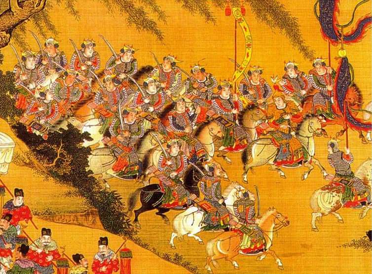 Painting of Ming dynasty troops.  Source: Wikimedia.