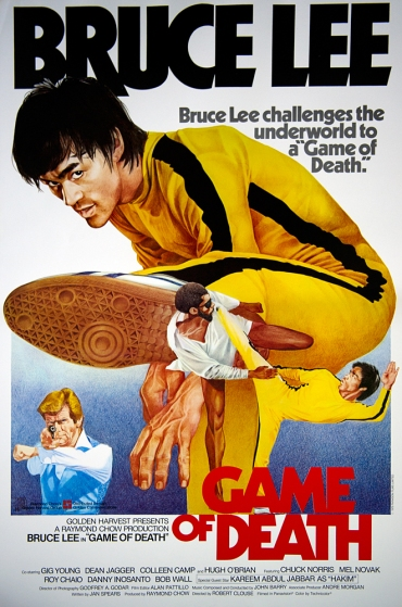 "Vintage poster for ""Game of Death"" featuring Bruce Lee.  Circa 1978."