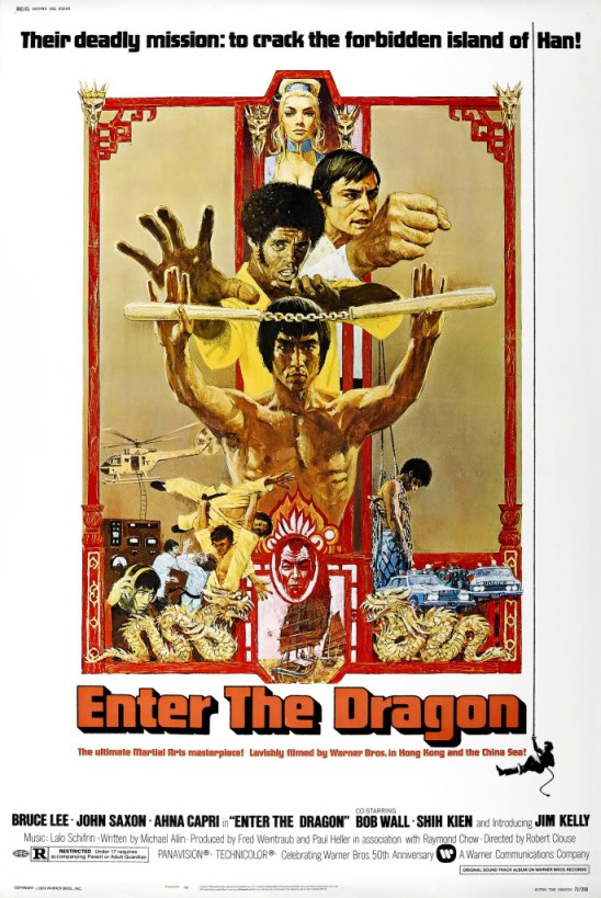 """Enter the Dragon"" Vintage Movie Poster, 1973."