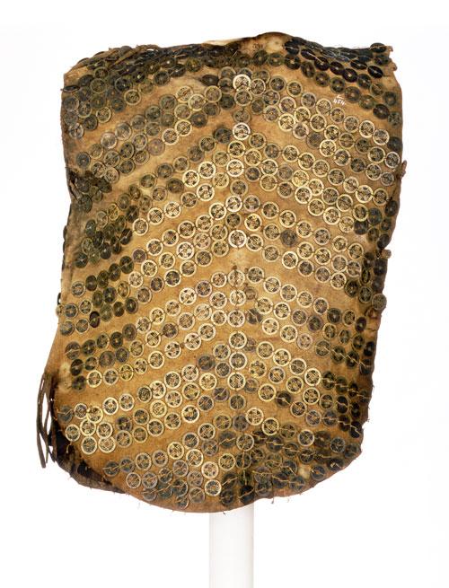 Tlinglit body armor made from Chinese trade coins.  19th century.  North West Coast, USA.