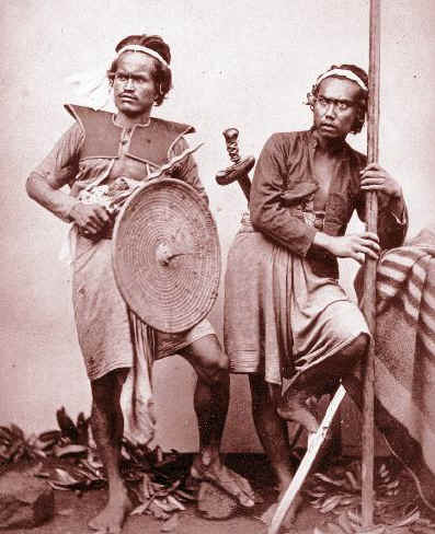 Two warriors from Bali.  Source: Wikimedia.