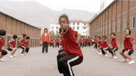 Female student studying Wushu in a scene from Inigo Westmeier's Dragon Girls.