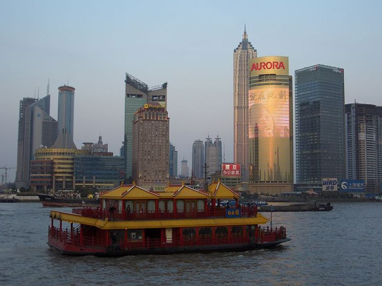 Pudong, Shanghai.  Source: Wikimedia.