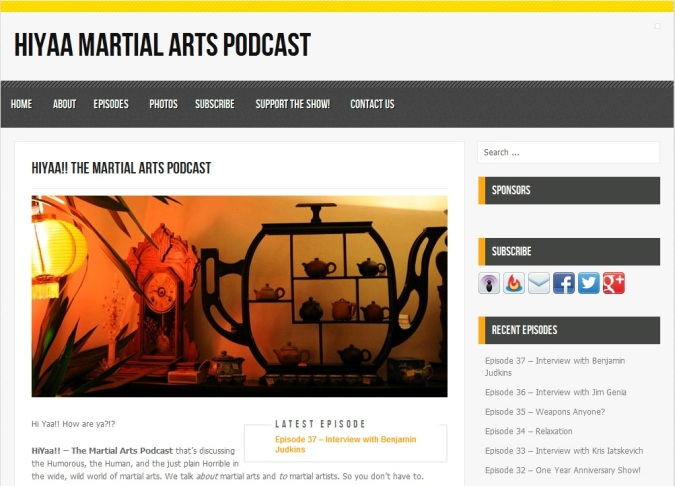 Kung Fu Tea was recently interviewed on the Hiyaa Martial Arts Podcast.