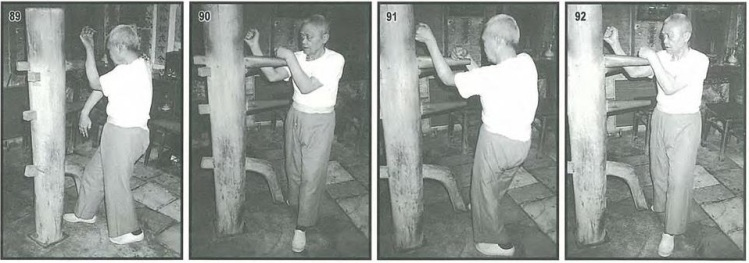 Pan Nam demonstrates the wooden dummy form. Source: Leung Ting, 2004.
