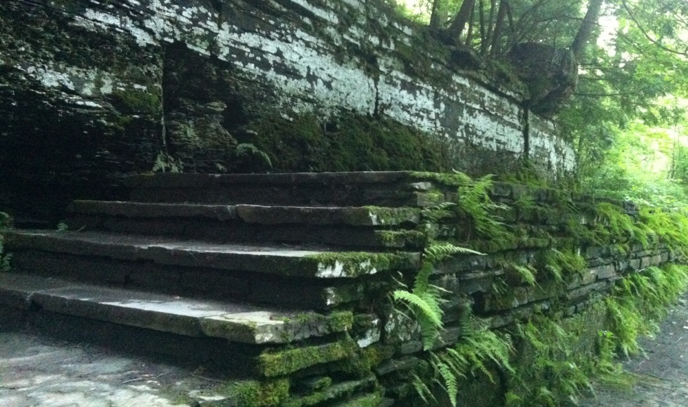 Stairs at the Robert H. Treman State Park.  Photo by Benjamin Judkins.