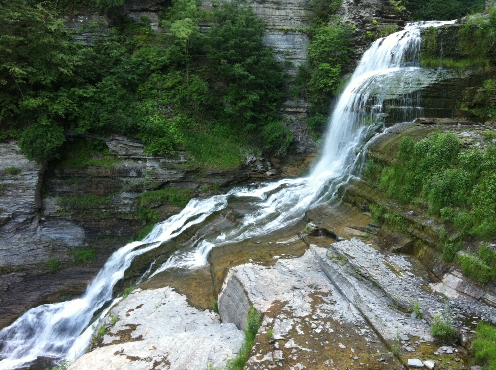 Waterfall at the Robert H. Treman State Park.  Photo by Benjamin Judkins.