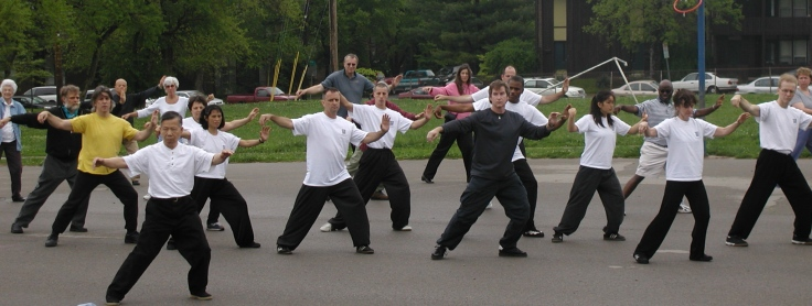 "A celebration of the 2011 ""world tai chi day."" Source:www.chineseartsalliance.com."