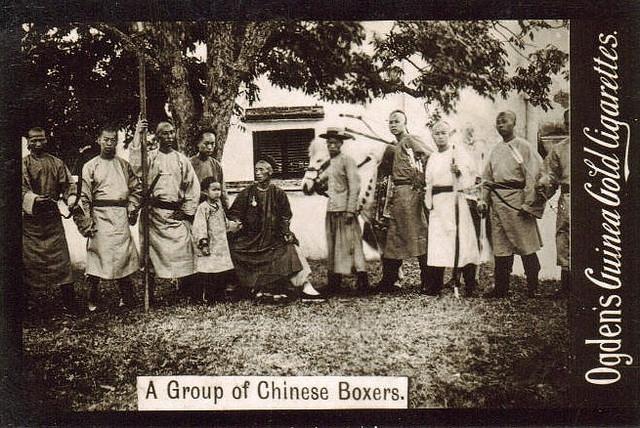 A group photograph of an archery class or society. Ogden Cigarette Card, circa 1901.