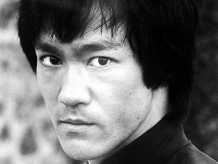 Bruce Lee.  Detailed portrait.