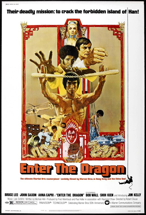 "The original posted for the US release of ""Enter the Dragon."""