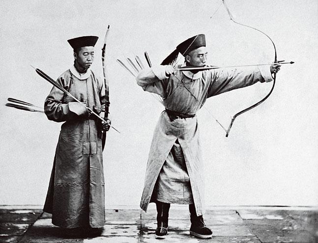 Manchu Archers. 1872 by John Thompson. Source: National Library of China.