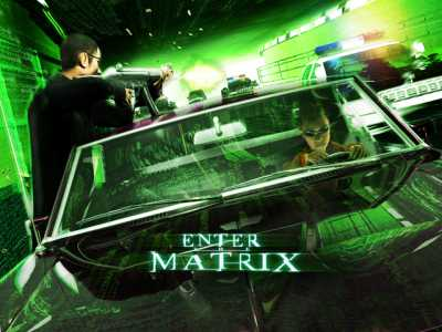 Advertisement for Enter the Matrix.  Source: Rob Argent.