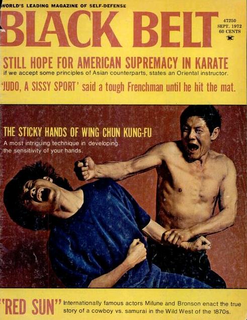 """Cover of """"Black Belt Magazine.""""  September, 1972."""