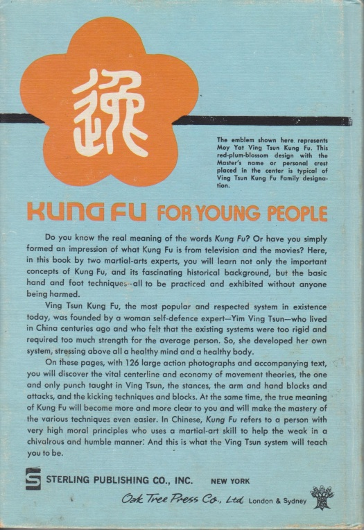 Kung Fu For Young People, Verso. Source: Author's Personal Collection.