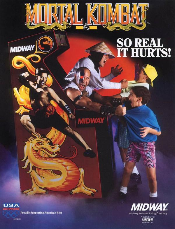 An advertisement for Mortal Kombat.  Source: Rob Argent.