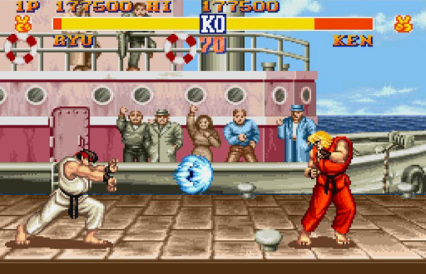 A screen capture from Street Fighter 2, one of the all time classic martial arts games.  Source: Rob Argent.