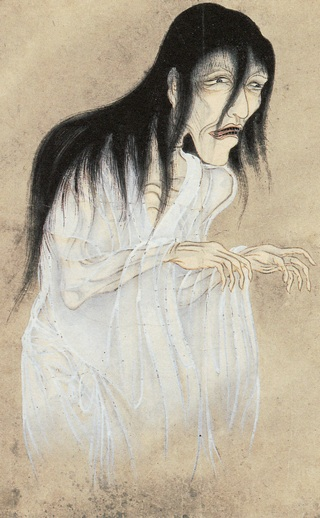 Yūrei (Japanese Ghost) from the Hyakkai-Zukan, 1773.  Source: Wikimedia.