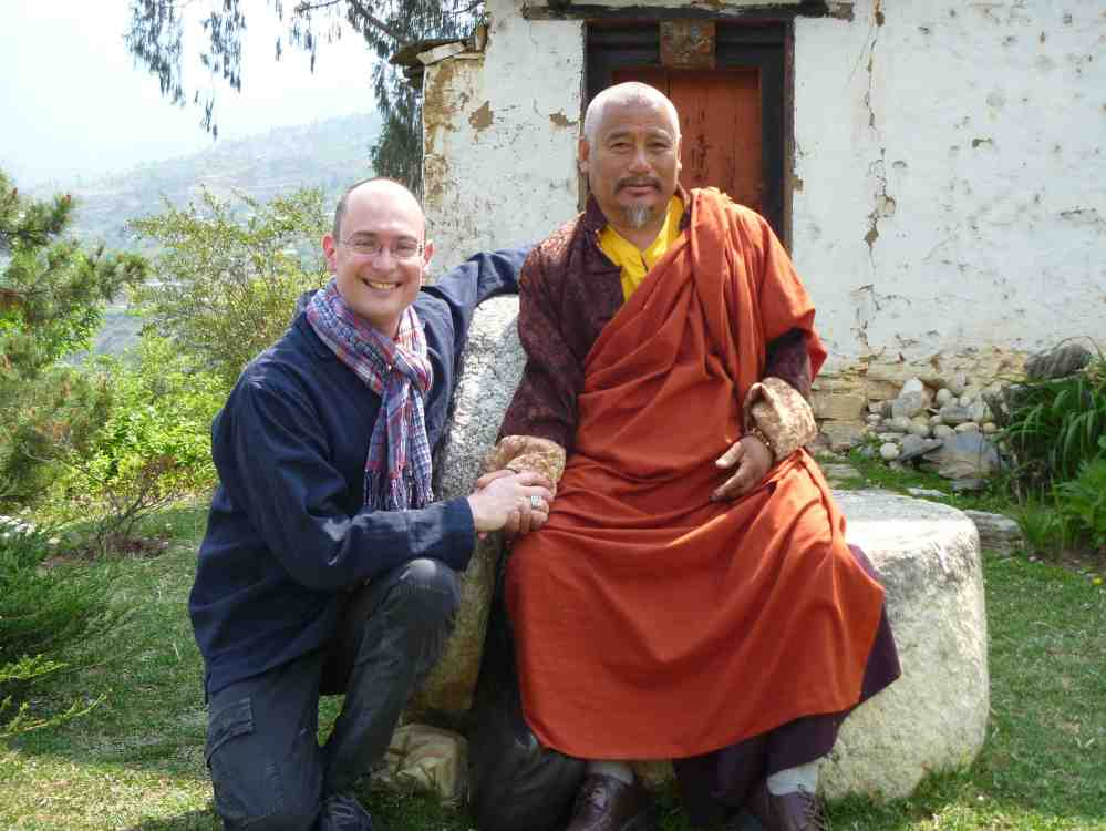 Prof. Daniel Mroz and Tsewong Rinpoche in Bhutan.  Source: Property of Daniel Mroz.