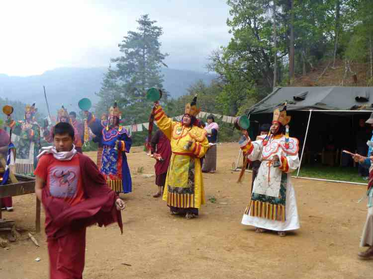 Fire Puja Dancers in Bhutan.  Source: Property of Daniel Mroz.