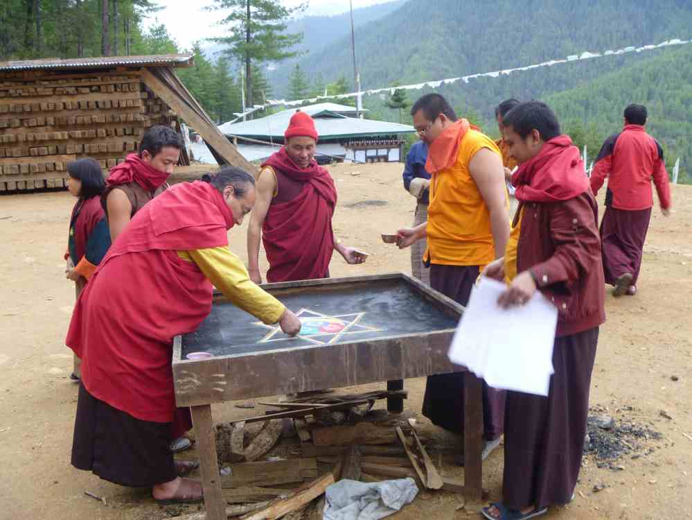 Preparing for the Fire Puja.  Bhutan.  Source: Property of Daniel Mroz.