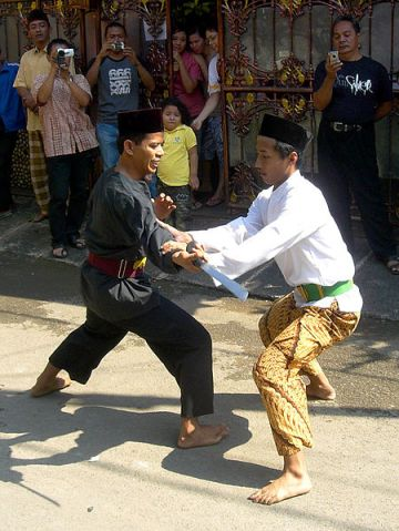 A Pencak Silat demonstration in Jakarta.  Source: Wikimedia.