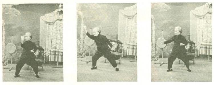 "Mok Kwai Lan demonstrating her family's ""Iris Breaking"" set on Hong Kong Television in 1970.  Source: Real Kung Fu Vol. 1 Num. 7"