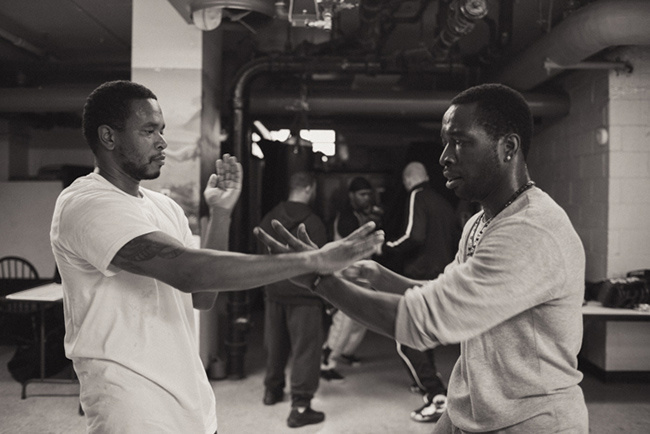 A Jeet Kune Do class in Harlem.  Source: vice. com,  Photo by Adam Krause