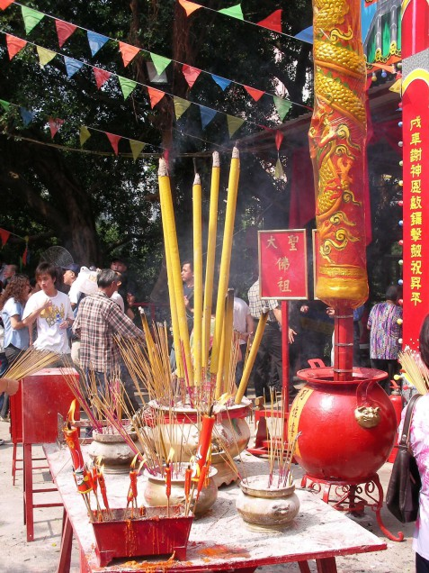 Another scene from the Monkey God Festival.  Source: Photo by Samuel Judkins.