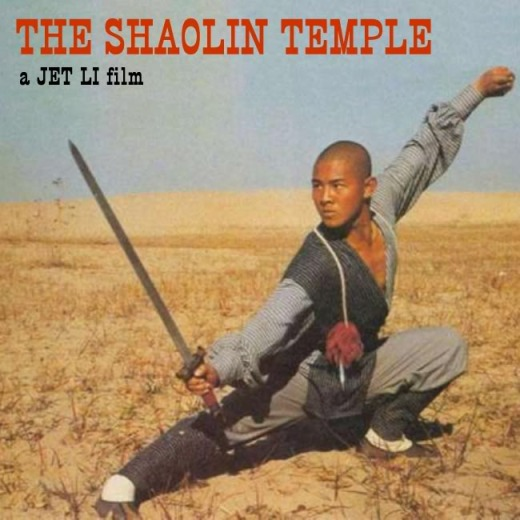 A promotional poster for the Shaolin Temple, early 1980s.