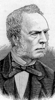 An engraving of Robert Fortune as he appeared in the 1850s and 1860s.  Source: Wikimedia.
