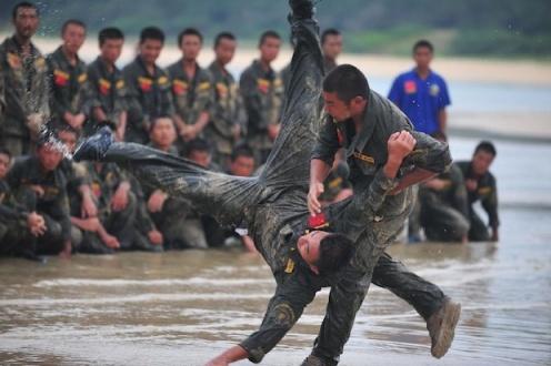 A bodyguard training program.