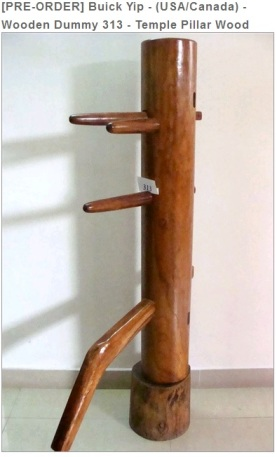 A Temple Pillar Wooden Dummy by Buick Yip.  Source: Everything Wing Chun